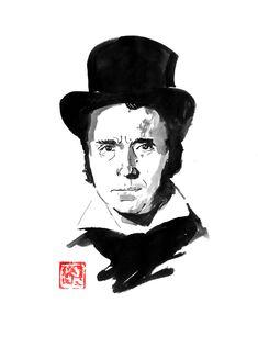 Sumi E Painting, Movie Characters, Buy Art, Paper Art, Saatchi Art, Original Art, Cinema, Poster Prints, Japan