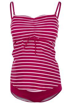 #Boob #FAST #FOOD #Badeanzug #stripe #magenta #pink/offwhite für #Damen -