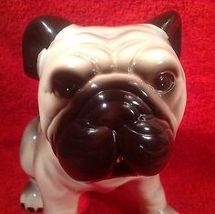 Great-Antique-Vintage-Majolica-English-Bulldog-Figurine-gm812