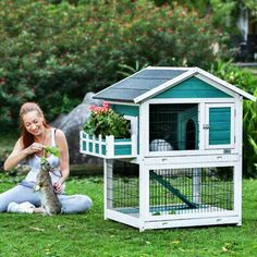 Petsfit x 30 x 46 inches Bunny Cages,Outdoor Rabbit Hutch - Rabbit Hutches: Outdoor & Indoor Rabbit Hutche Models Indoor Rabbit House, Rabbit Hutch Indoor, House Rabbit, Rabbit Cages Outdoor, Hen House, Diy Bunny Cage, Bunny Cages, Diy Bunny Hutch, Rabbit Cage Diy