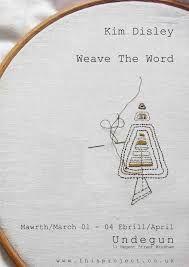 Billedresultat for weaved poetry textile words