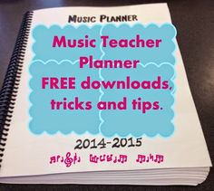MelodySoup blog: Music Teacher Planner and Managment Notebook- part 1 - contacts and call records