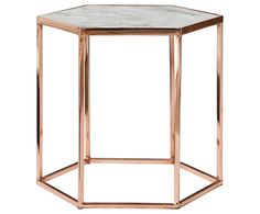 Marble / Copper Bedside Table
