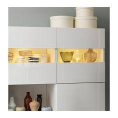 BESTÅ TOFTA Glass door IKEA Adjustable hinges allow you to adjust the door horizontally and vertically.