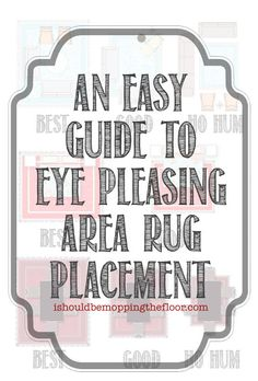 Easy Guide To Area Rug Placement Rugplacement Arearug