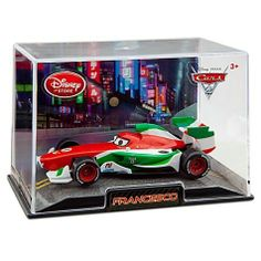 Francesco Bernoulli Cars 2 Disney Pixar 148 Die Cast Car by Disney Store. $7.95. - Finely detailed die cast metal - Comes in plastic case with scenic display backing - 1 1/4'' H x 2 1/4'' W x 4 1/2'' L - Ages 3+ - Imported - Collect die cast replicas of all your favorite Cars 2 characters, each sold separately