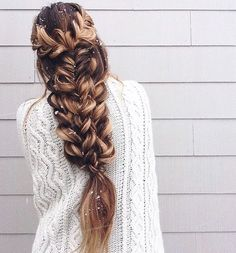 Stacked braids are cool but messier stacked braids are definitely lovelier to look at. Bigger loops would make the style a lot more different and elegant.