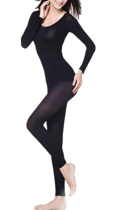 Camping Hiking Gear and Outfit :LANBAOSI Women's Round Neck Stretch Seamless Top and Bottom Thermal Underwear Set ** Awesome product. Click the image : Camping Hiking Gear and Outfit