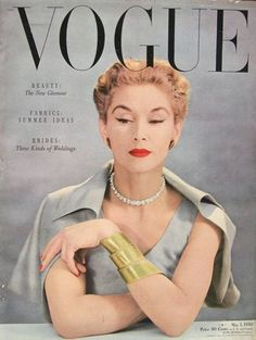 Lisa Fonssagrives, Vogue cover, May 1950