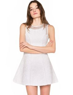 Pixie Market Chloe White Net Dress $84