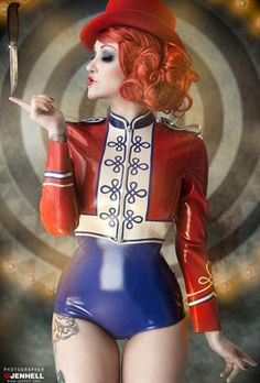 band master for dark circus Cabaret, Dark Circus, Pin Up, Sexy Latex, Burlesque, Poses, Circus Aesthetic, Circus Fashion, Pierrot Clown