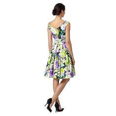Debut Green floral printed prom dress- | Debenhams