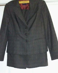 Evan -Picone Size 6 Women Gray Skirt Suit #EvanPicone #SkirtSuit