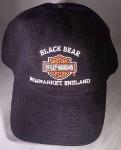 ca4710bc027 Harley-Davidson Black Bear NewMarket England Baseball Cap Hat   HarleyDavidson  BaseballCap Black