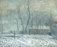 Camille Pissarro - Brouillard à l'Hermitage, Pontoise; Creation Date: 1879; Medium: oil on canvas