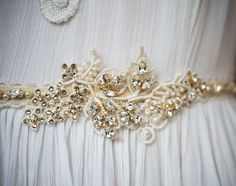 pretty dress sash | http://emmalinebride.com/bride/does-your-dress-need-a-sash/