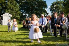 outdoor wedding at Brookside Farms in Ohio