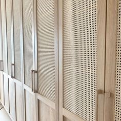 Closet Bedroom, Bedroom Decor, Bedroom Closet Doors, Basement Bedrooms, Rattan Furniture, Diy Furniture, Home Office Design, House Design, Built In Wardrobe