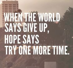 world and hope