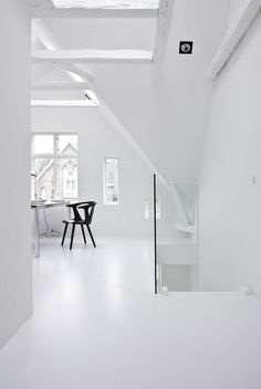 A Black & White Townhouse by Norm Architects In Copenhagen, Denmark | http://www.yatzer.com/norm-architects-copenhagen