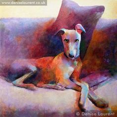 Stanley, the Whippet, by Denise Laurent.