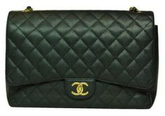 Chanel Black Caviar Leather Maxi With Gold Hardware