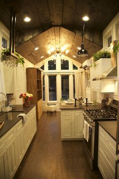 The Funk Tiny House on Wheels - - This is a 254 sq. tiny home with a triple roof line out of Austin, TX. It's designed by Brian Crabb of Viva Collectiv. Please enjoy, learn more, and re-share below. Triple Roof Line. House Design, House, Small Room Design, Houses In Austin, House Inspiration, Kitchen, Tiny House Decor, Container House, Small Living