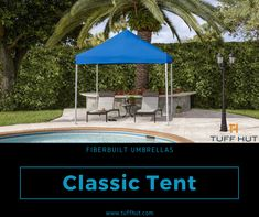 The square Classic Tent from Fiberbuilt Umbrellas is best suited for outdoors. Home Furniture, Furniture Design, Shade Umbrellas, Interior Decorating, Interior Design, Canopy Tent, Pacific Blue, Terrace, Gazebo