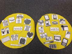 Chalk Talk: A Kindergarten Blog: science NEEDS VS WANTS activity
