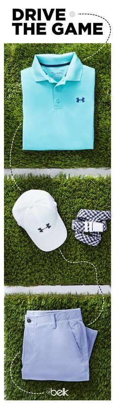 Dad loves working on his short game, and he'll love receiving Under Armour® Golf gear for Father's Day. Lightweight, cooling polos, pants, shorts and accessories are sure to be a hole-in-one gift for the man who spends his off-time on the course. Shop Under Armour® Golf in stores or at belk.com.