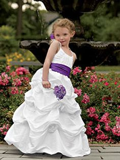 Purple Wedding Flower Girl Ideas #Purple #Flowergirl #Dress