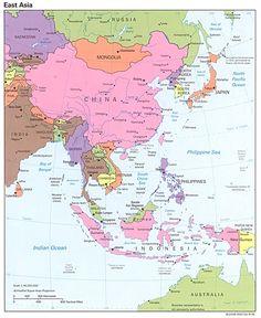 korea map of eastern asia