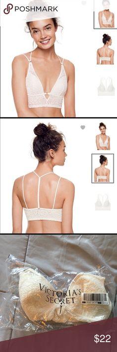 VS PINK Velvet Bralette - Small DD New in VS Online Packaging   VS PINK Velvet Bralette   Size:  Small DD  Color:  White PINK Victoria's Secret Intimates & Sleepwear Bras