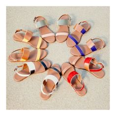 Our rainbow selection of Elie sandals makes for a shoelover's best dream. #Arricci #WearNext
