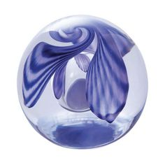 Caithness Glass Helicopter Lilac Paperweight. Reminisce about playing in the autumn leaves in the lovely swirls of this Helicopter Lilac glass paperweight!