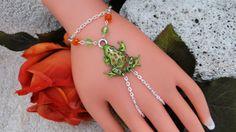 Frog Slave Bracelet Ring, Hand Chain, Hand Harness, Body Jewelry, Infinity Ring, Finger Chain Bracelet, Chain Bracelet, Hipster on Etsy, $17.00