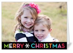 Shutterfly Bright Merry Cheer Christmas 5x7 folded card. Make your photos shine in this Christmas card. Add photos and holiday wishes on the front, back and inside, too.. Price: $1.59