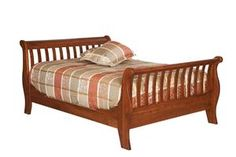 Amish Slatted Sleigh Bed