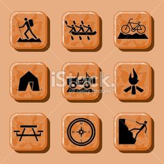 Outdoor Sports and Activities Icons stock vector art 9160440 - iStock