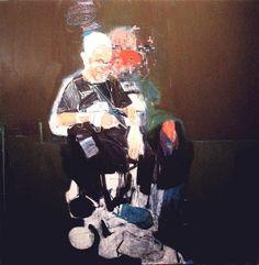 "Karim Hamid, ""Portrait of CC,"" 36x36, oil on board, 2009, NYC"