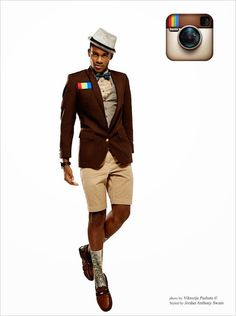 What if Guys Were Social Networks? Fashion Photos of Models as Facebook, Twitter and More