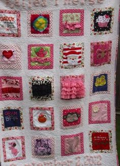 Baby clothes quilt inspiration. Link is to picture only