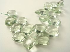 Green Amethyst Smooth Apple / 10 to 12 mm / 18 by beadsofgemstone