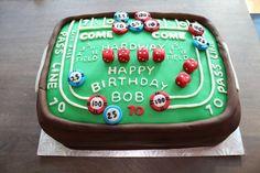 Craps Table Casino Cake
