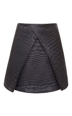 Shop Quilted Satin Reptile Jacquard Skirt by Kenzo Now Available on Moda Operandi