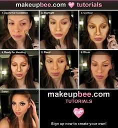 Step-By-Step Tutorial for Highlight and Contour. This is so weird to me...how does this even work lol