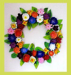 The Wreath Blog: Egg Carton Wreath at Homemade Serenity