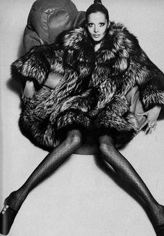 Maren Greve by David Bailey for Vogue UK, 1969.