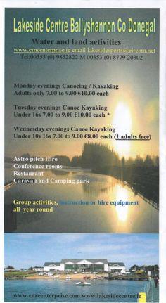 Evening Canoeing and Kayaking at Lakeside!