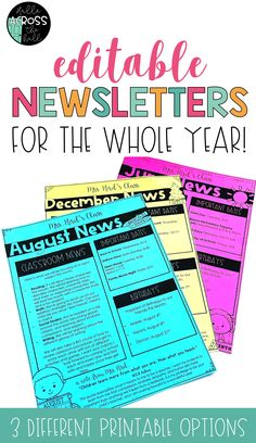 Start off the year on the right foot with regular, positive communication through EDITABLE newsletters. #backtoschool #editablenewsletters #classroomnewsletters #back2school #halleacrossthehall